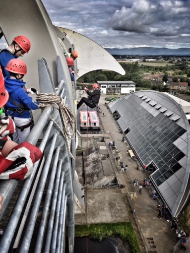 Abseil at the Falkirk Wheel